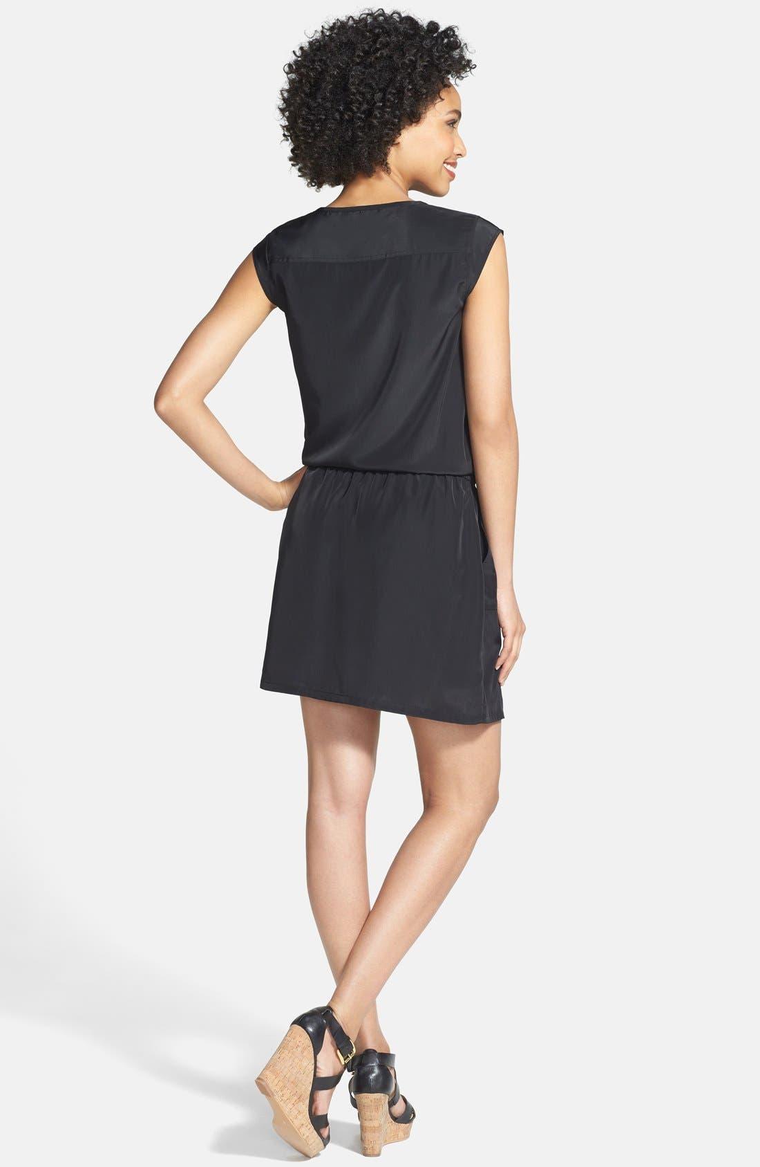 Alternate Image 2  - Caslon® Print Drawstring Waist Dress (Regular & Petite)