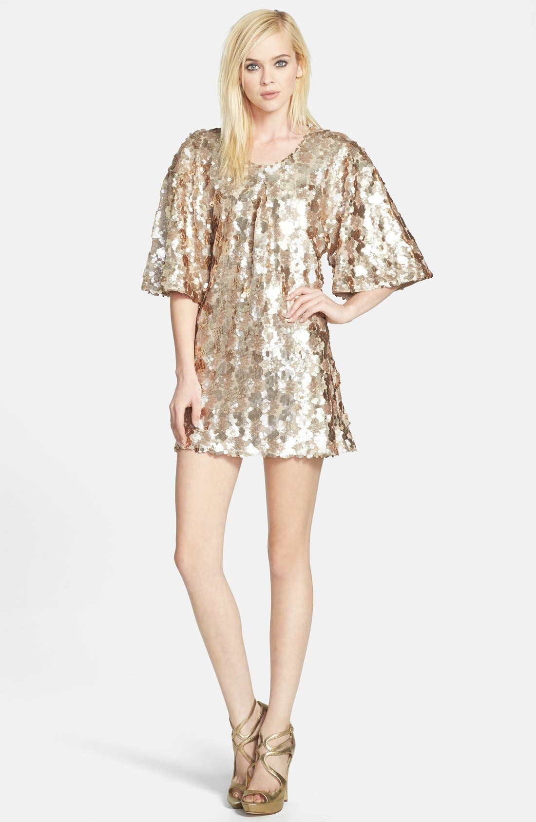 Alternate Image 3  - Dress the Population 'Brooklyn' Embellished Shift Dress