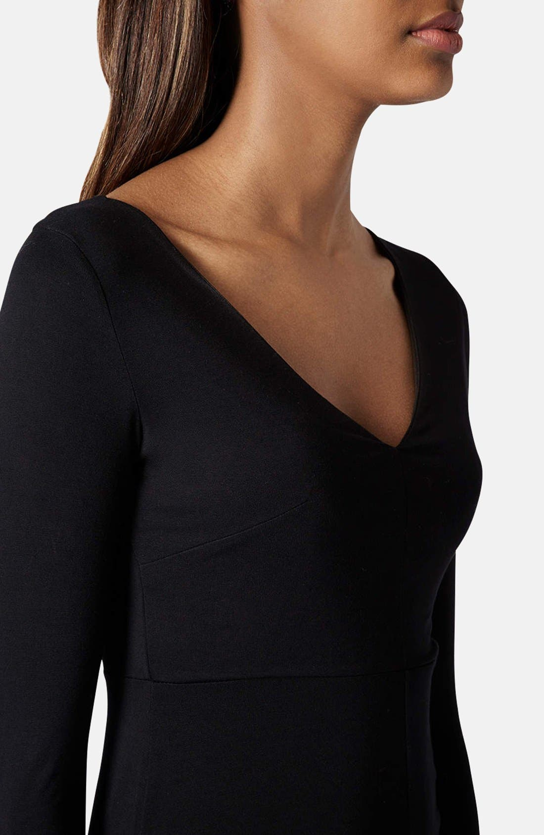 Alternate Image 4  - Topshop Seam Detail Jersey Body-Con Dress