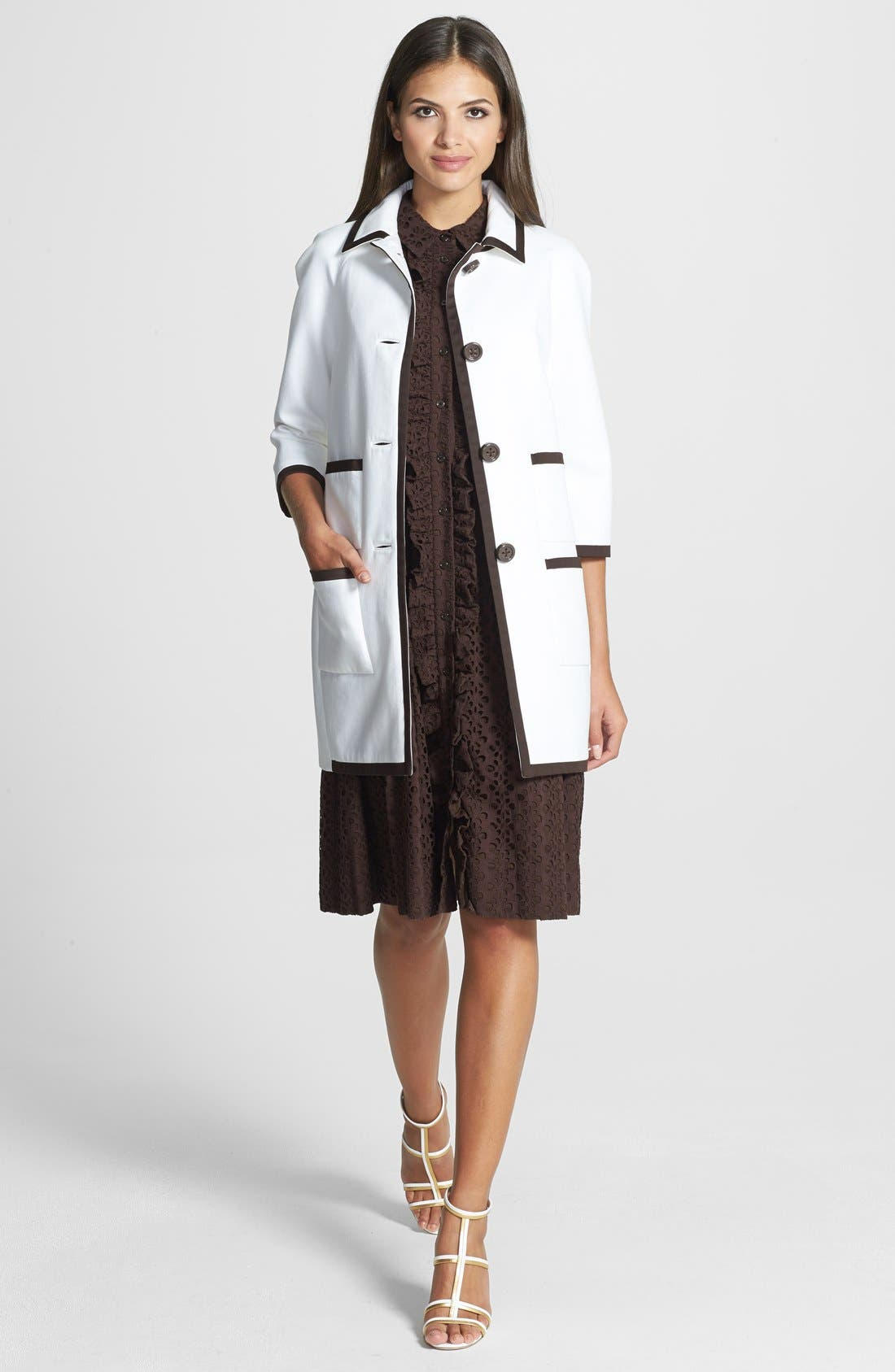 Alternate Image 2  - kate spade new york four-pocket car coat