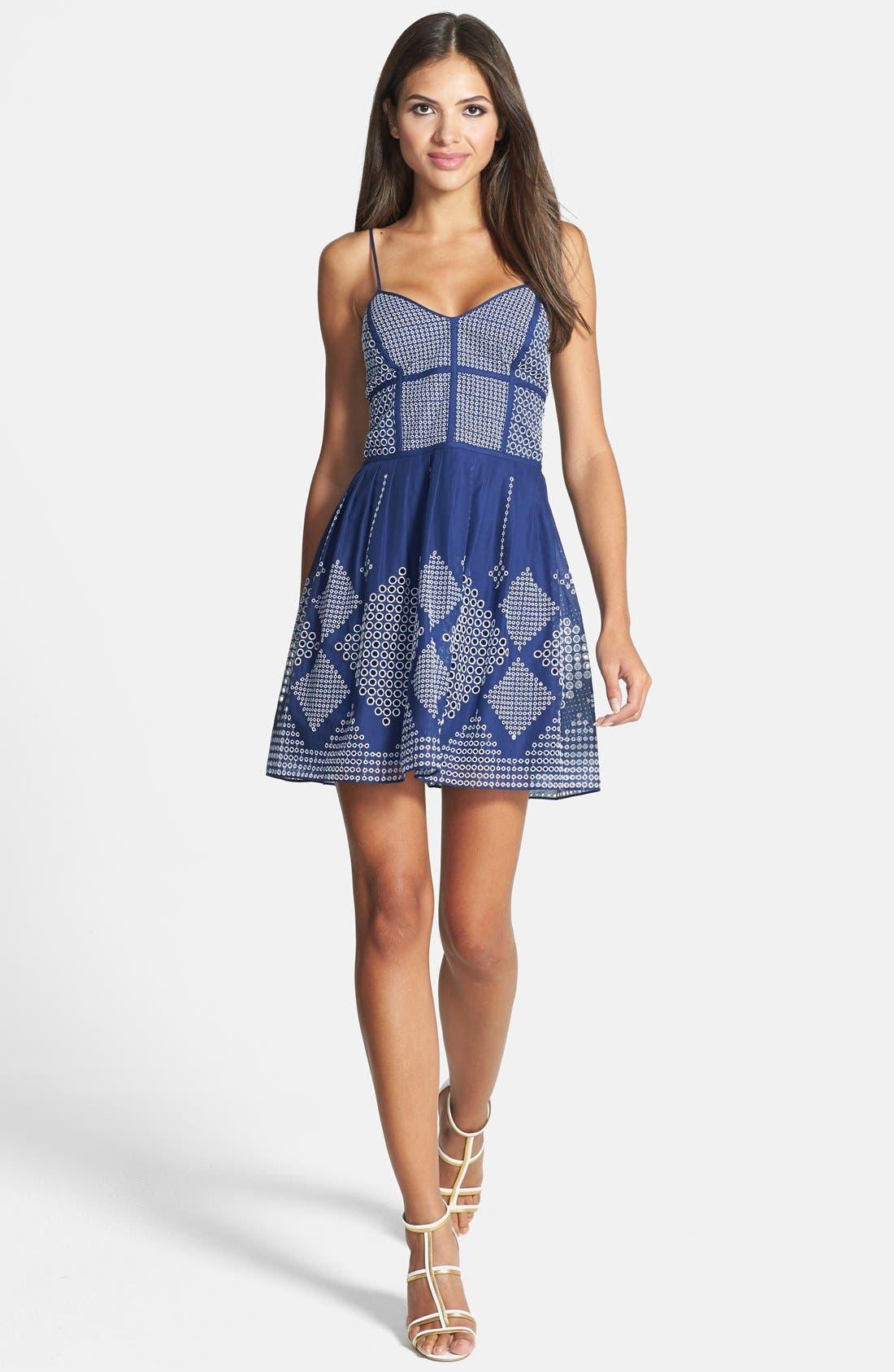 Alternate Image 1 Selected - Parker 'Francis' Fit & Flare Dress