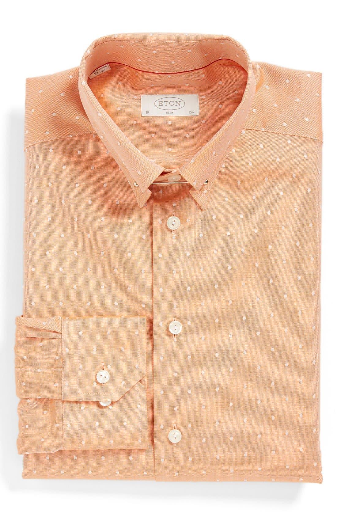 Main Image - Eton Slim Fit Dot Dress Shirt