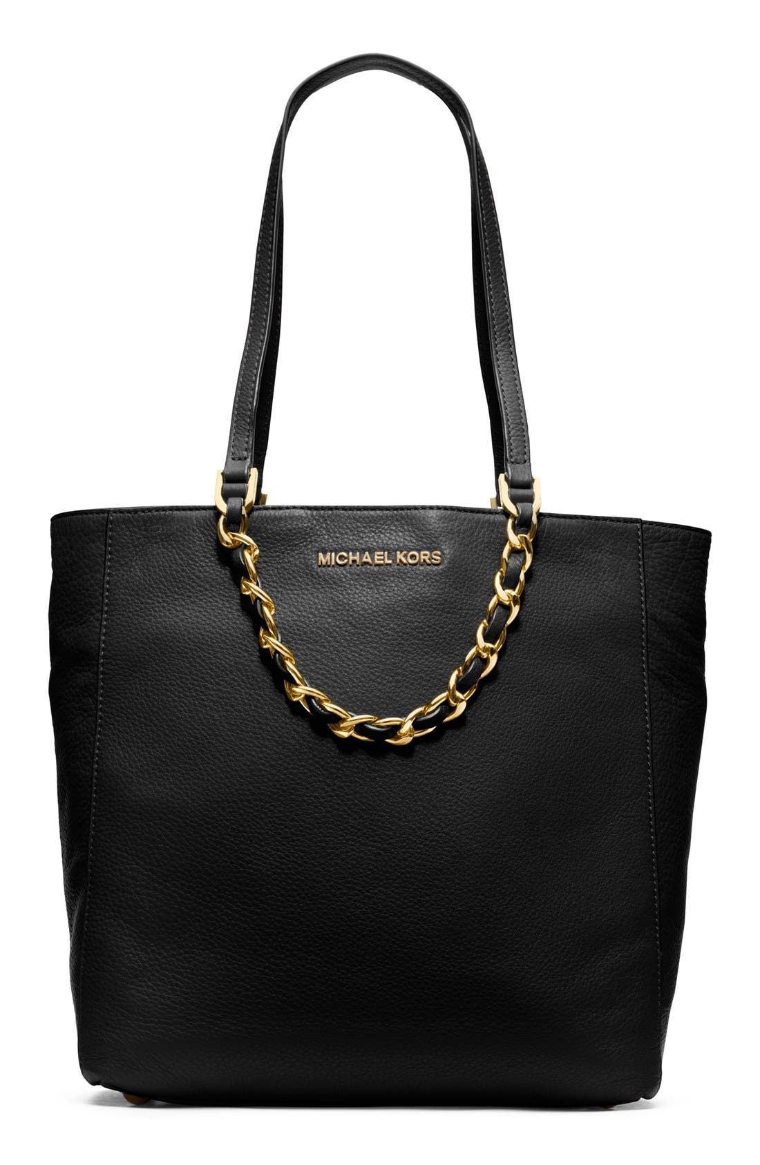 Alternate Image 1 Selected - MICHAEL Michael Kors 'Large North/South' Leather Tote