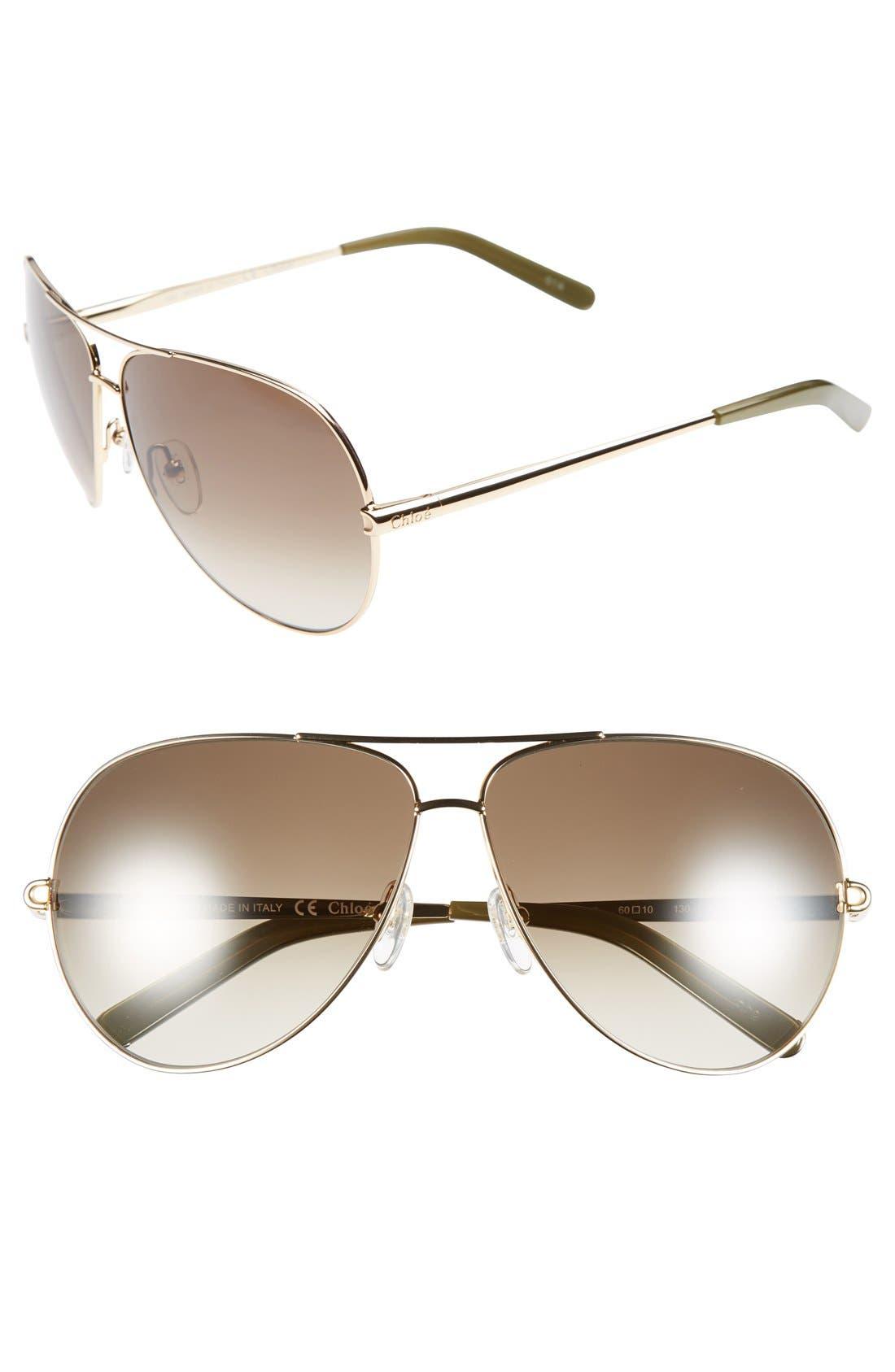 Main Image - Chloé 'Orme' 60mm Sunglasses