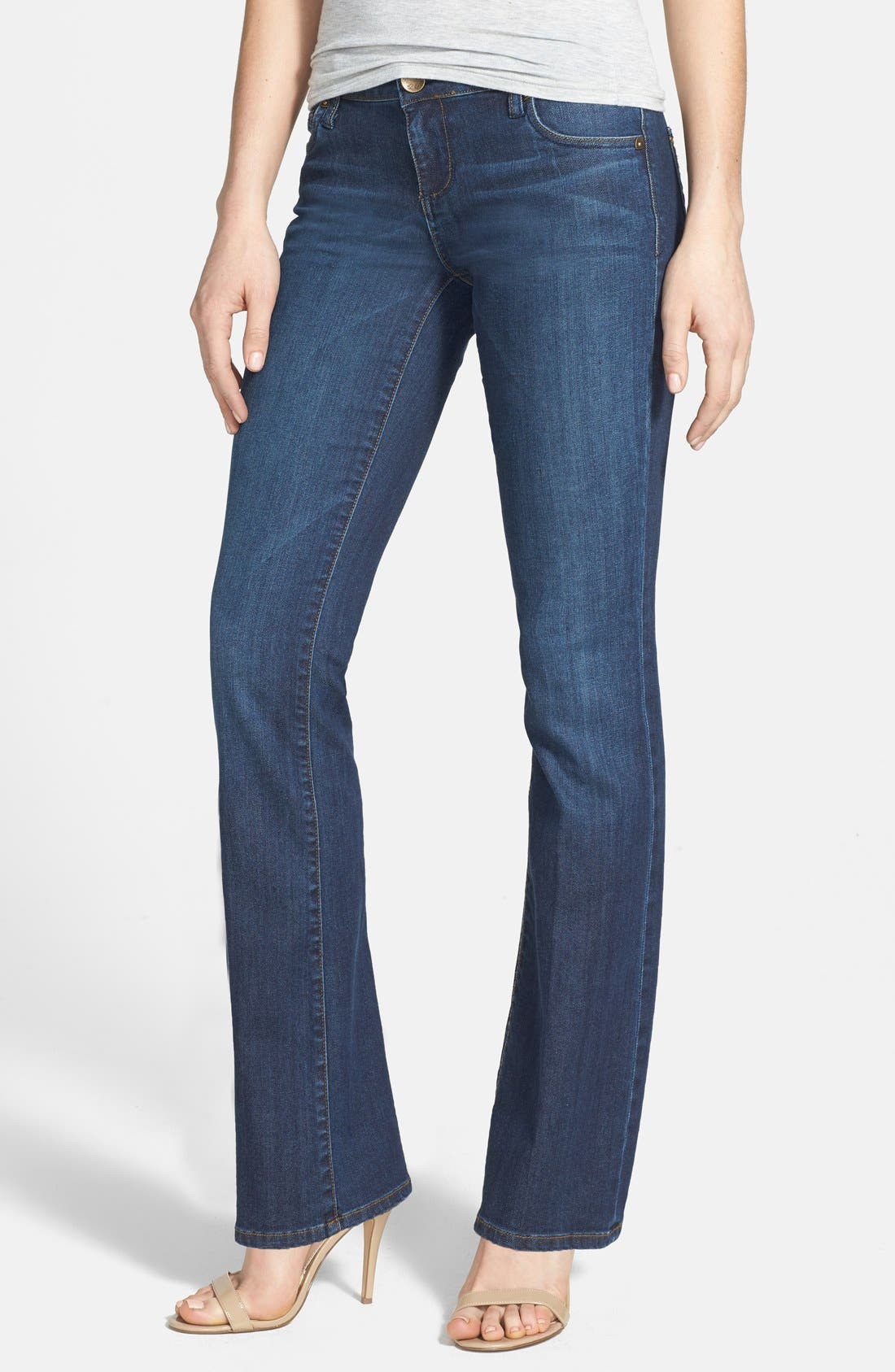Alternate Image 1 Selected - KUT from the Kloth 'Farrah' Baby Bootcut Jeans (Whim) (Short)