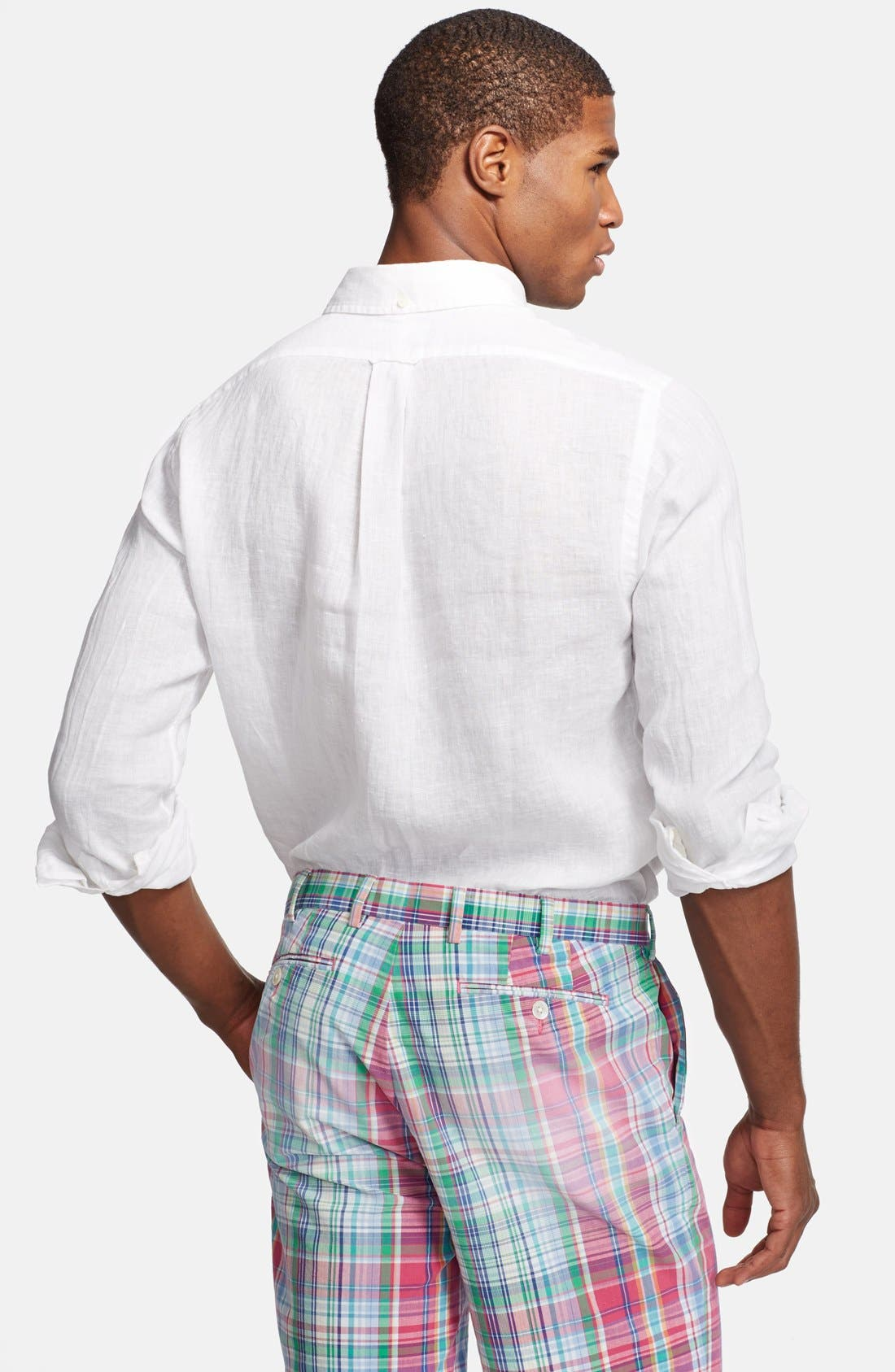 Alternate Image 2  - Polo Ralph Lauren Custom Fit Linen Sport Shirt