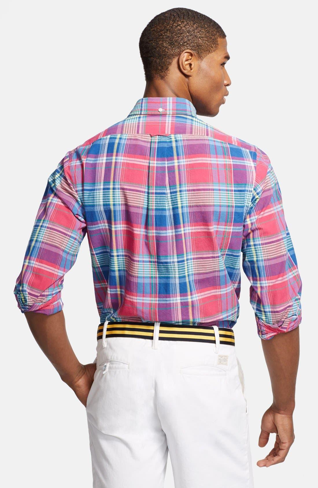 Alternate Image 2  - Polo Ralph Lauren Regular Fit Madras Sport Shirt