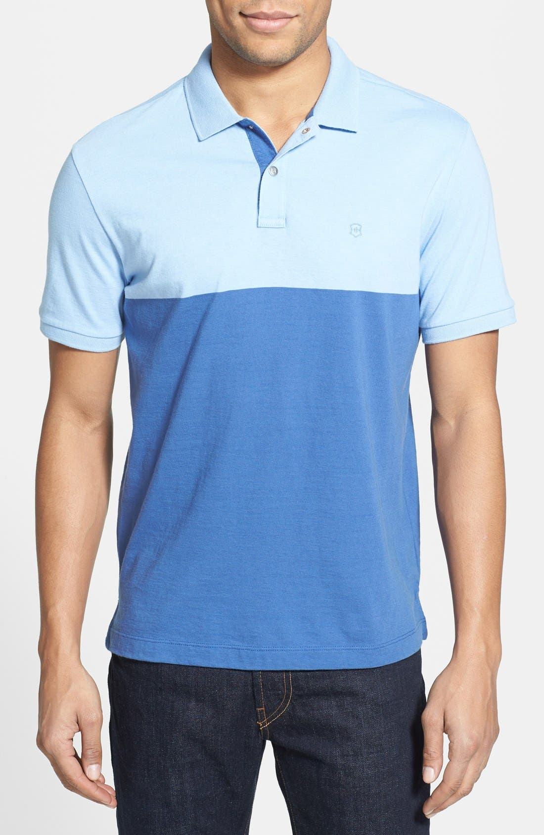 Alternate Image 1 Selected - Victorinox Swiss Army® 'Aster' Tailored Fit Colorblock Polo