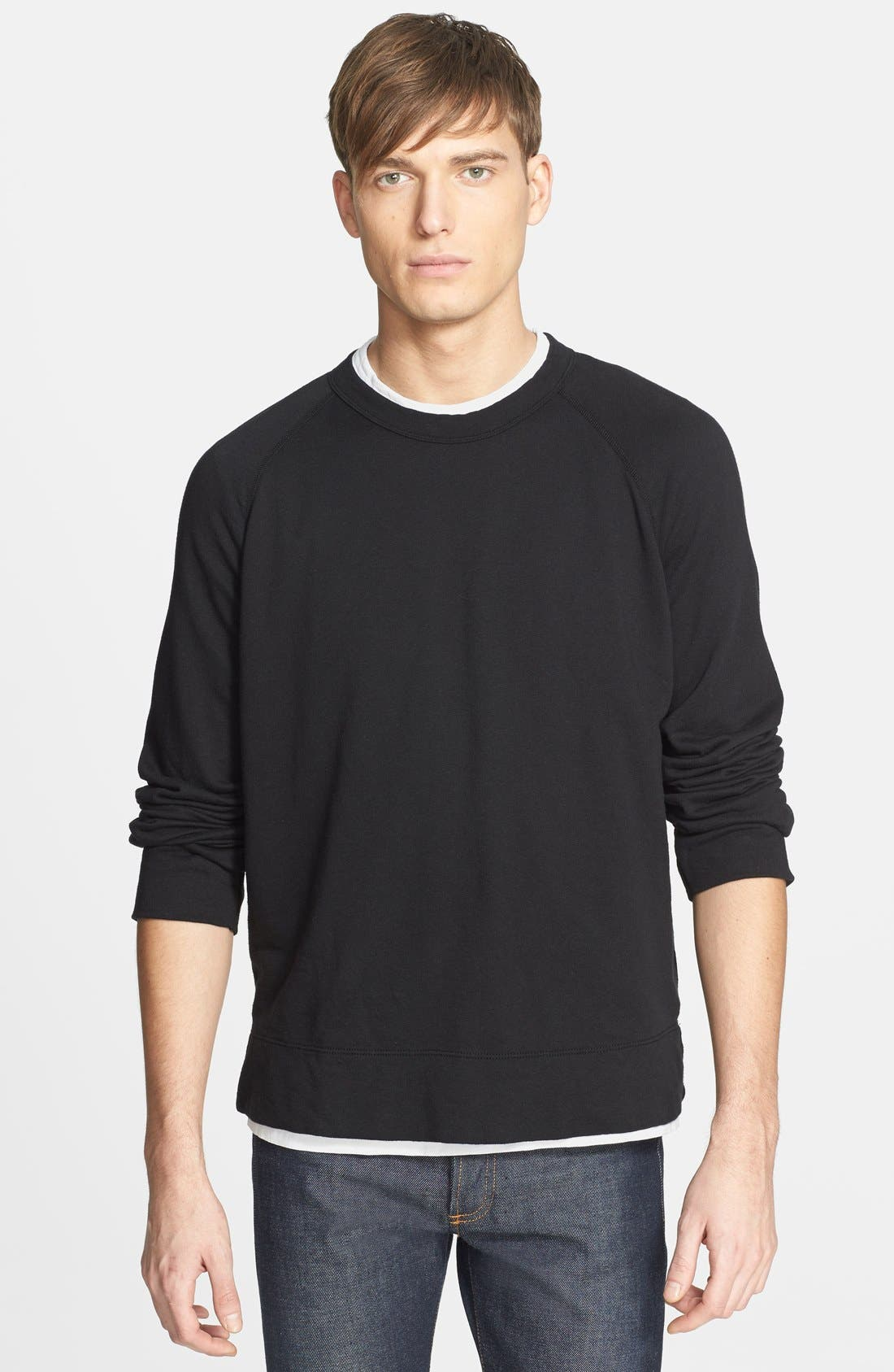 Main Image - James Perse Raglan Crewneck Sweatshirt