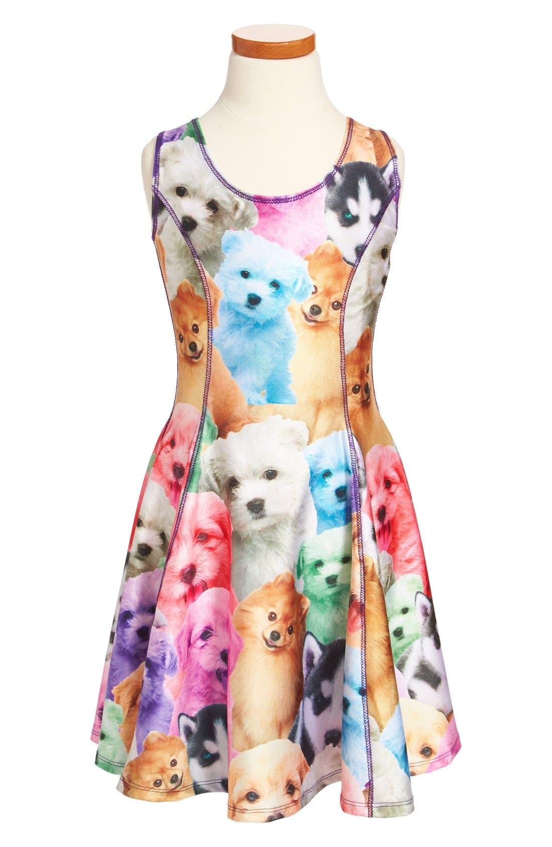 Alternate Image 1 Selected - Terez 'Puppiez' Skater Dress (Big Girls)