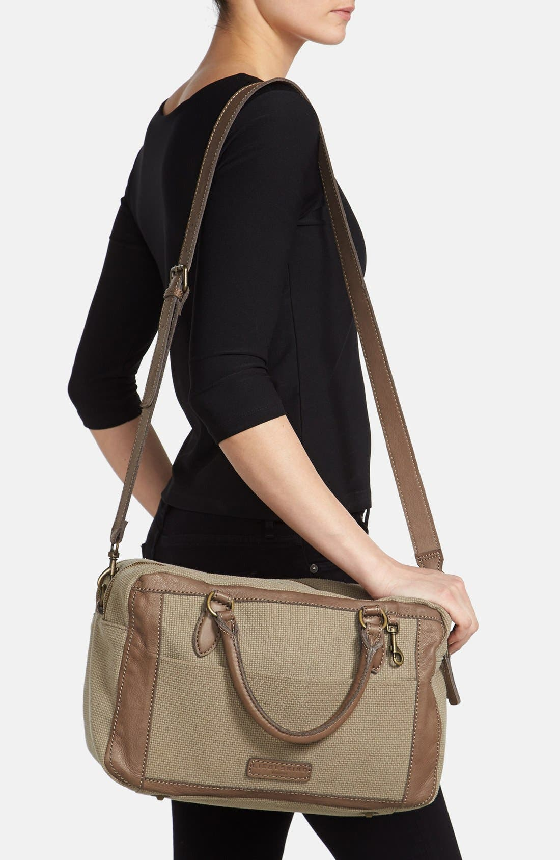 Alternate Image 2  - Liebeskind 'Toska' Canvas & Leather Satchel
