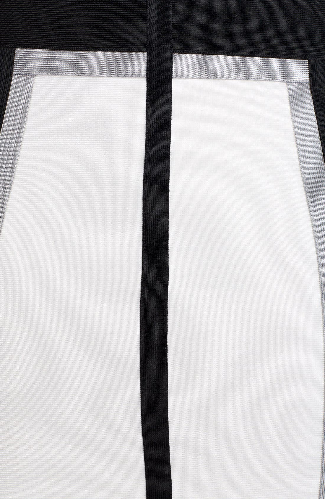 Alternate Image 3  - Herve Leger Zip Detail Pencil Dress