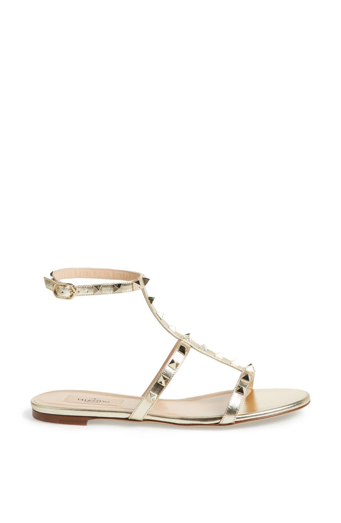 Alternate Image 4  - Valentino 'Rockstud' T-Strap Sandal