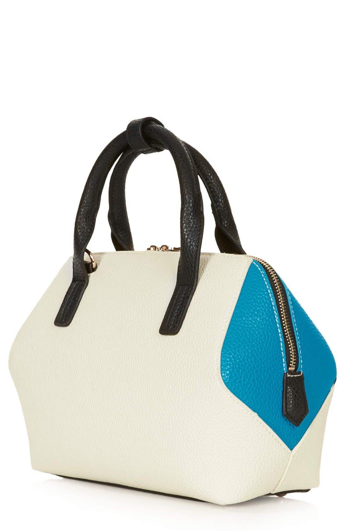 Alternate Image 3  - Topshop Colorblock Mini Holdall Bag