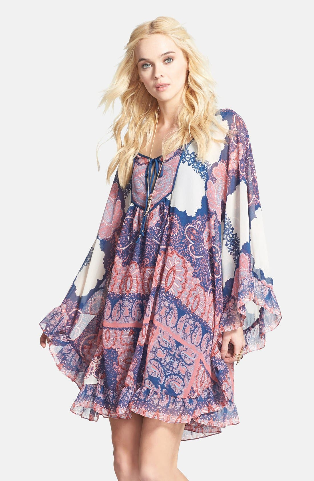 Alternate Image 1 Selected - Free People 'Marla' Print Shift Dress