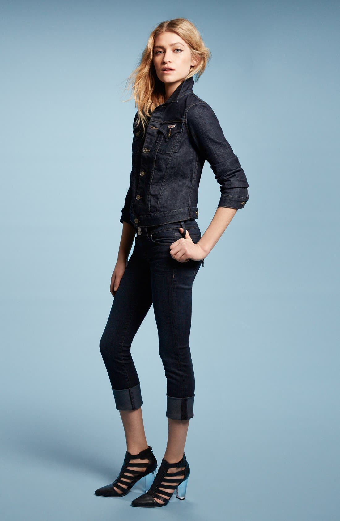 Alternate Image 5  - Hudson Jeans 'Ginny' Crop Stretch Jeans (Forsythia)