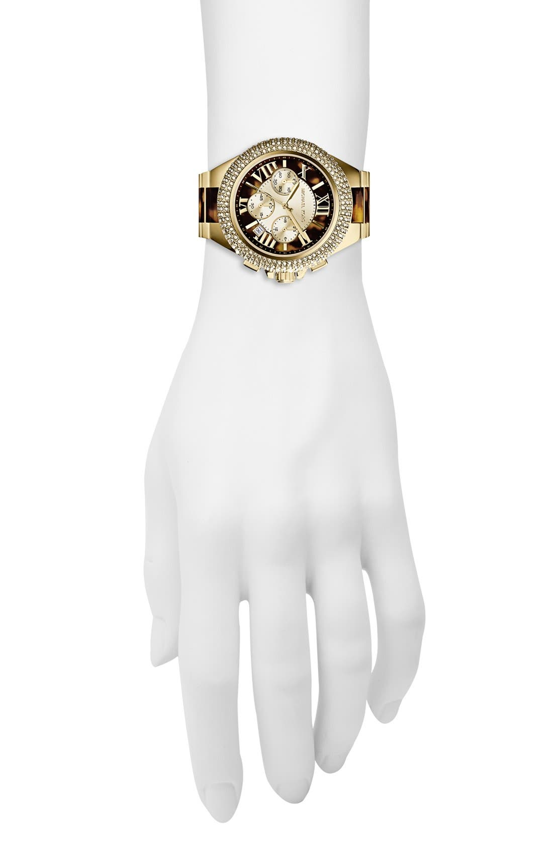 Alternate Image 4  - Michael Kors 'Camille' Crystal Bezel Chronograph Bracelet Watch, 43mm