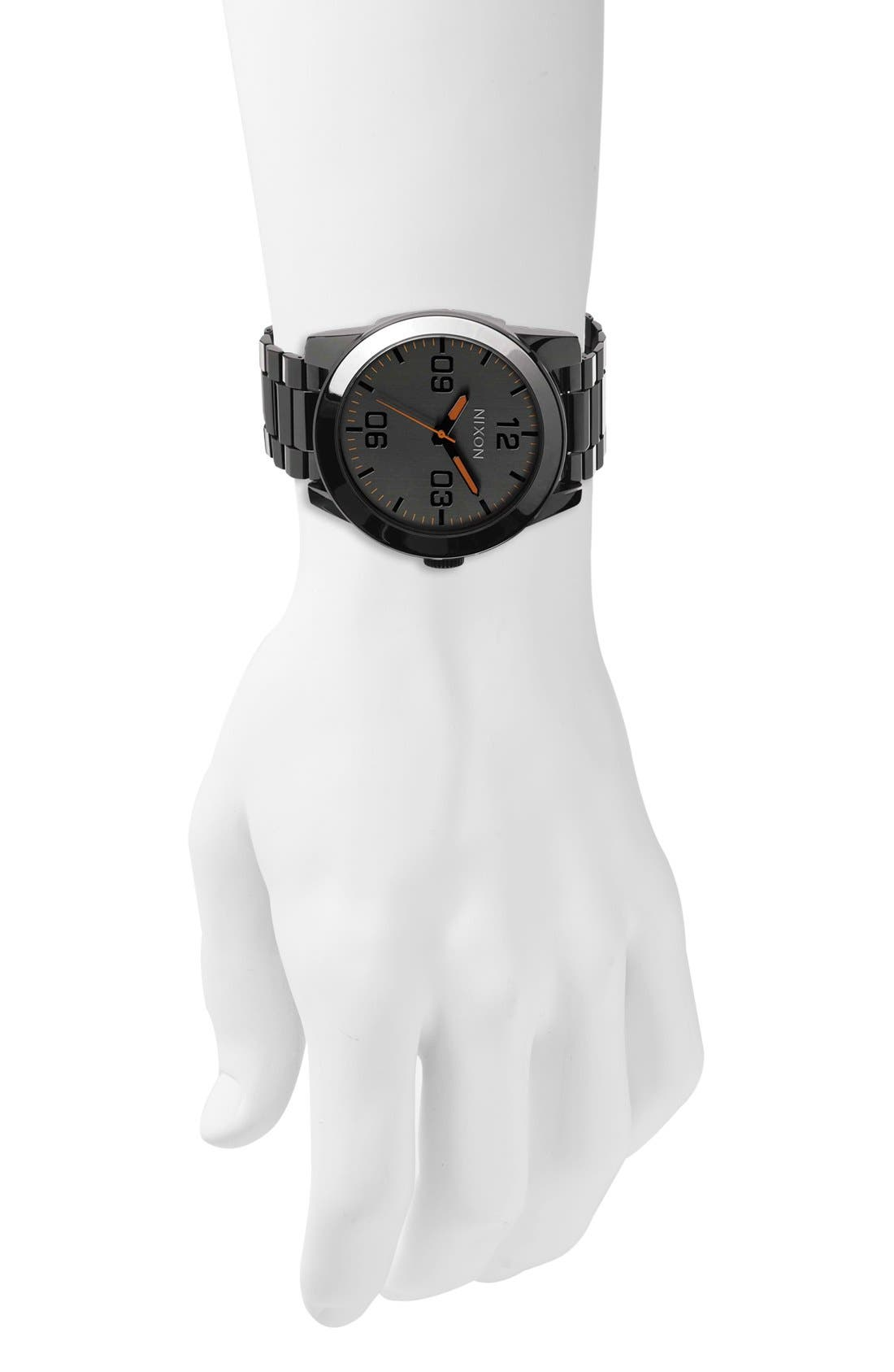 Alternate Image 4  - Nixon 'The Corporal' Bracelet Watch, 48mm
