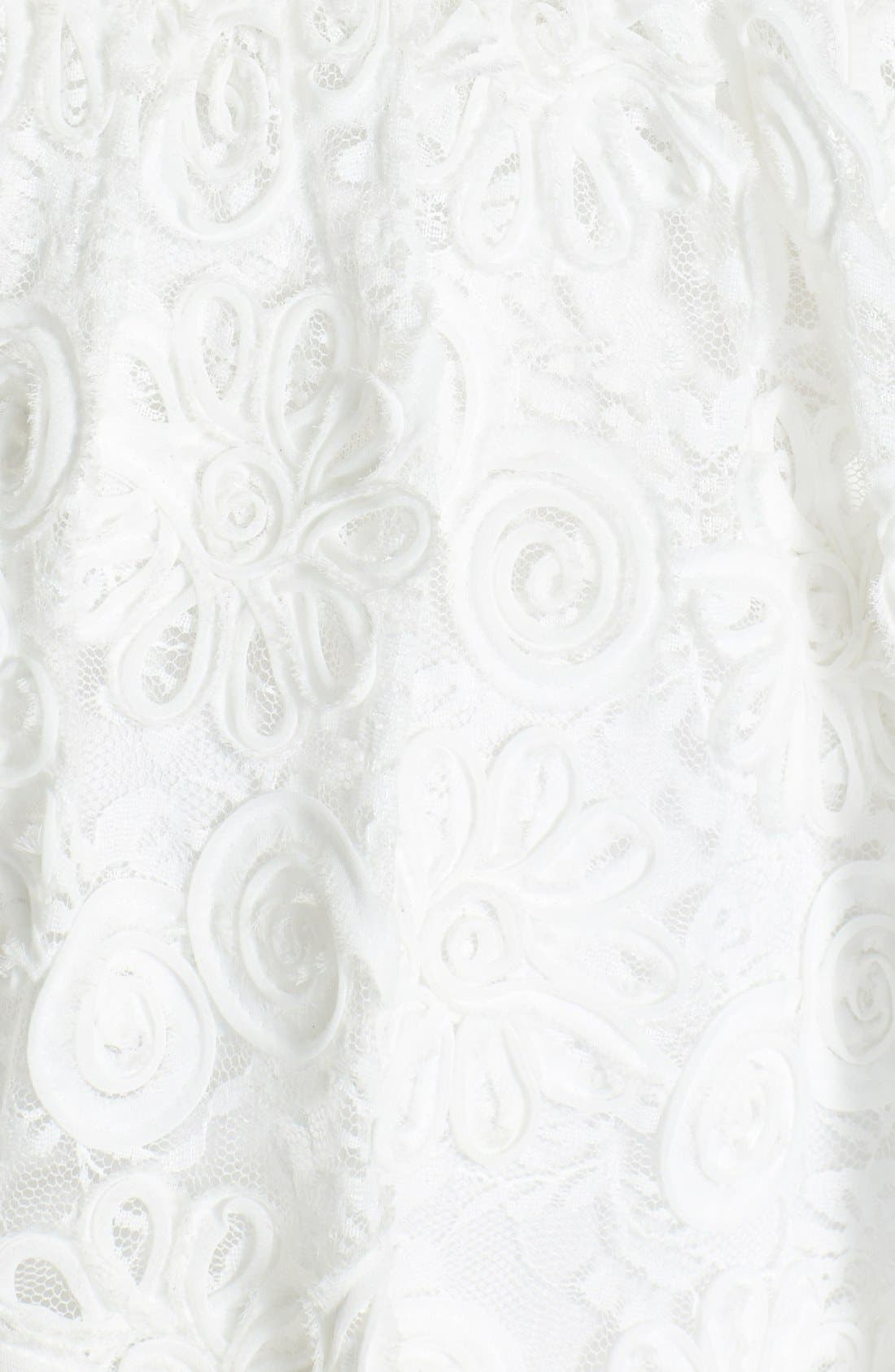 Alternate Image 4  - Hailey by Adrianna Papell Strapless Floral Embroidered Dress