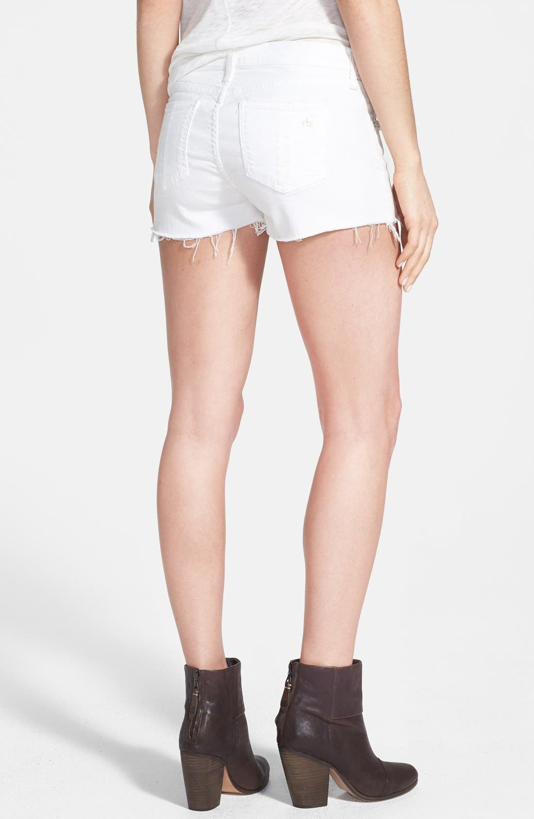 Alternate Image 2  - rag & bone/JEAN 'The Mila' Denim Cutoff Shorts