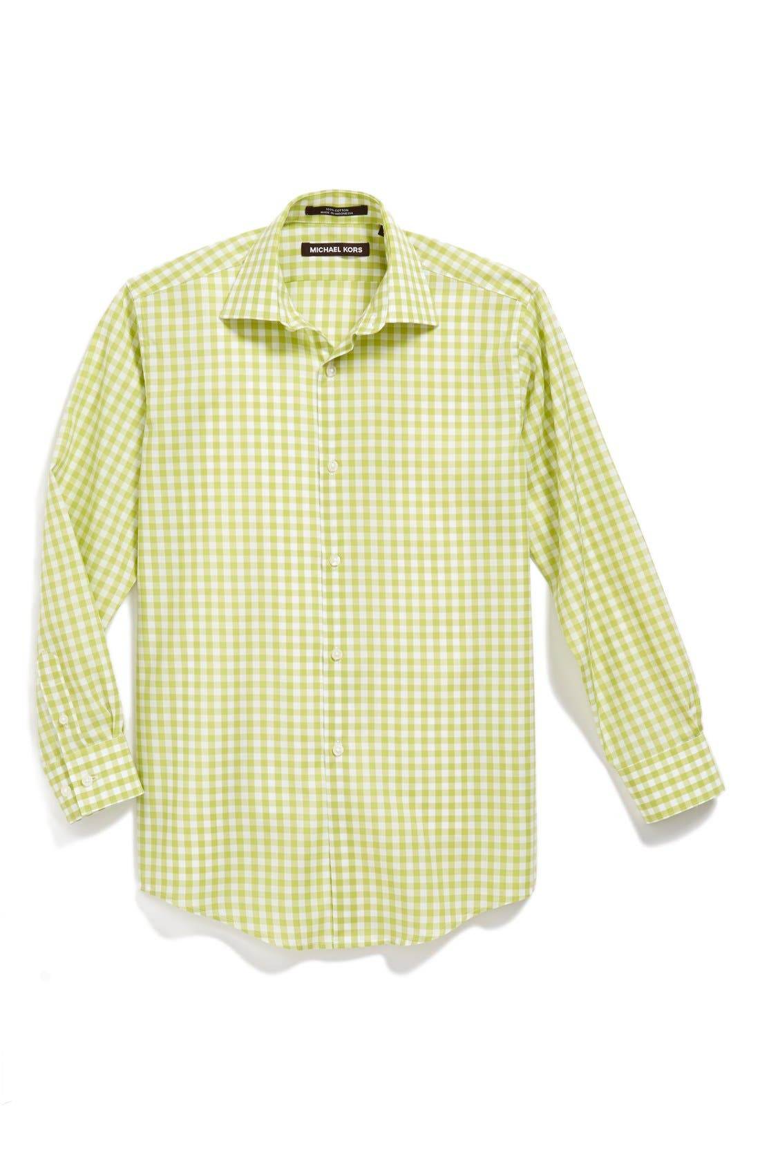 Alternate Image 1 Selected - Michael Kors Gingham Dress Shirt (Big Boys)