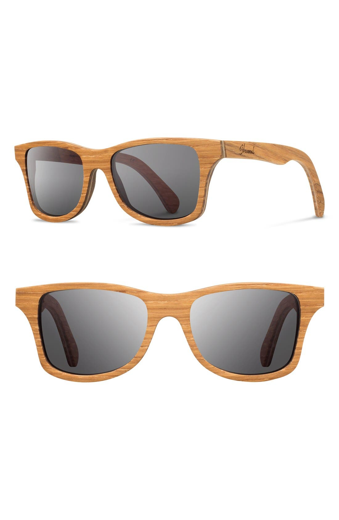 Alternate Image 1 Selected - Shwood 'Canby' 54mm Polarized Wood Sunglasses