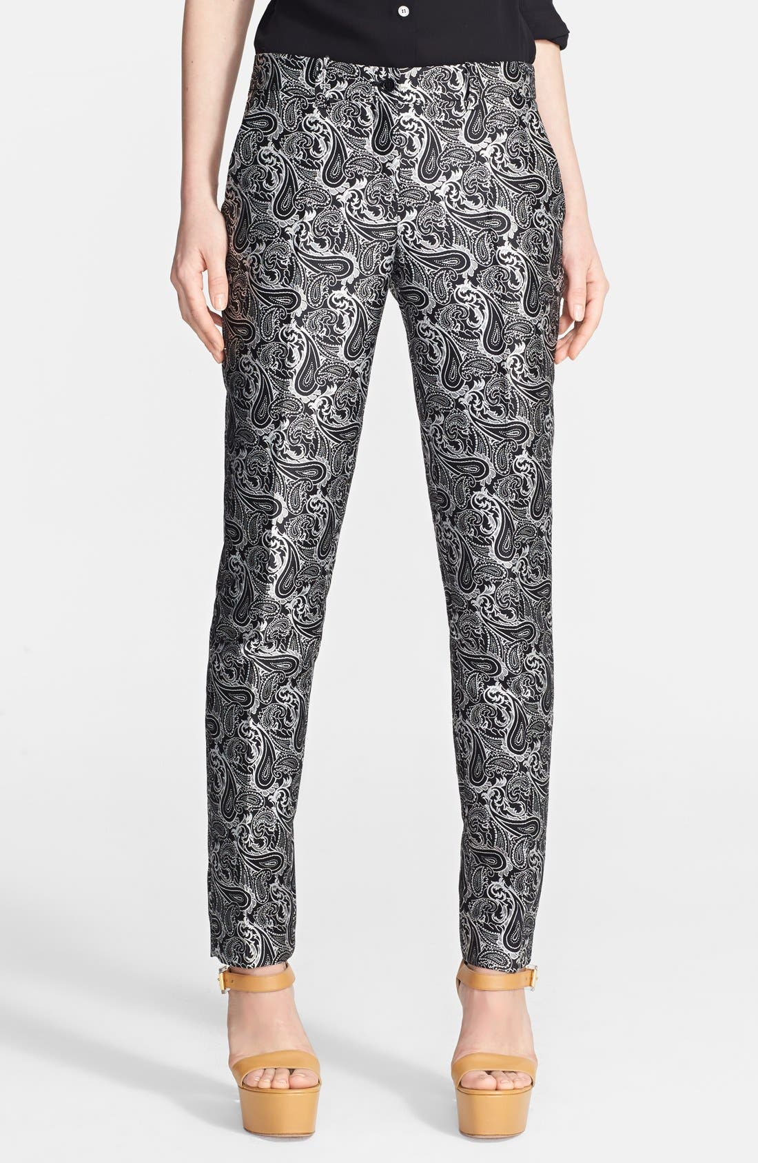 Alternate Image 1 Selected - Michael Kors 'Samantha' Skinny Paisley Pants