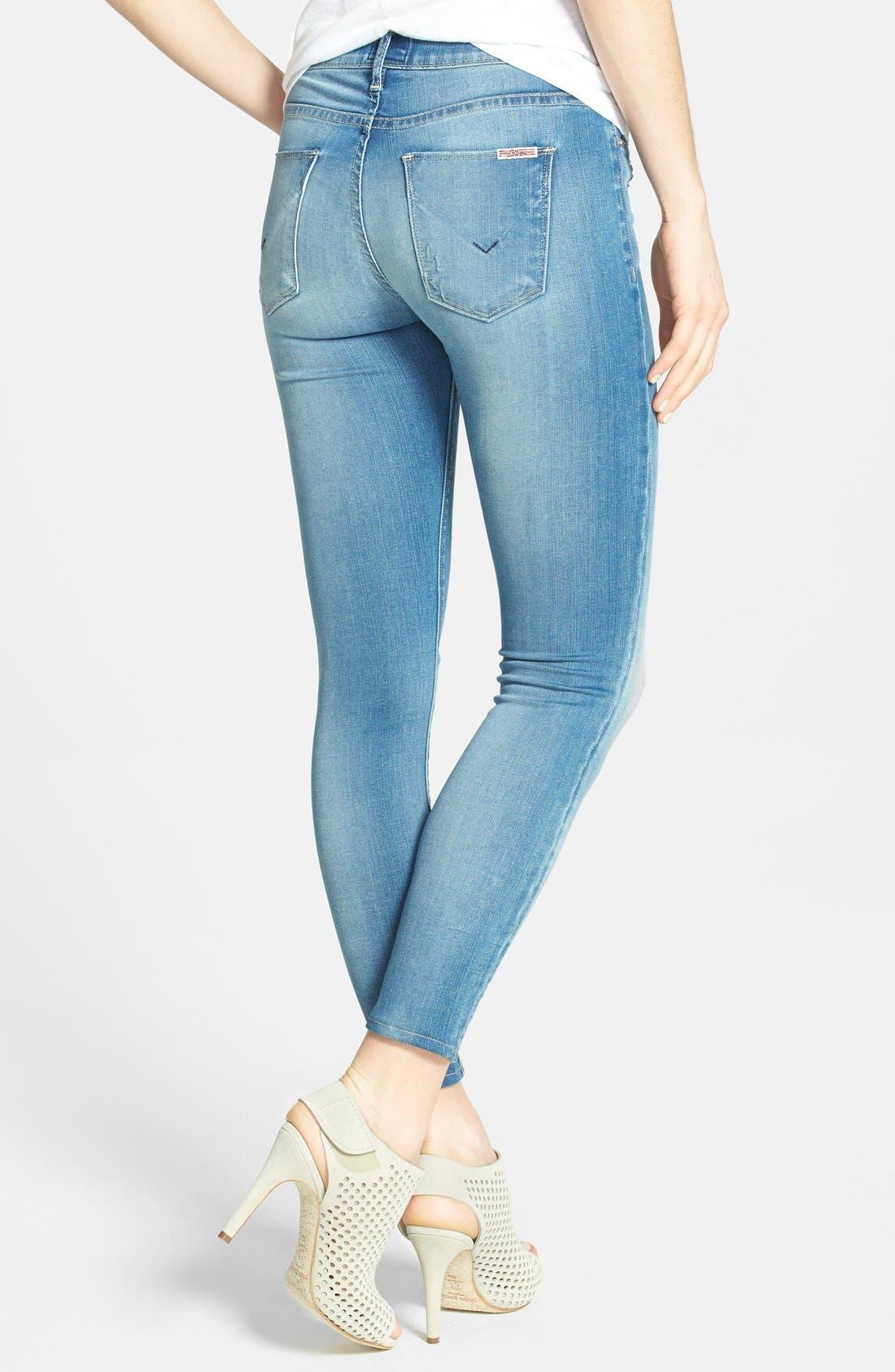 Alternate Image 2  - Hudson Jeans 'Krista' Crop Skinny Jeans (Voodoo Child)