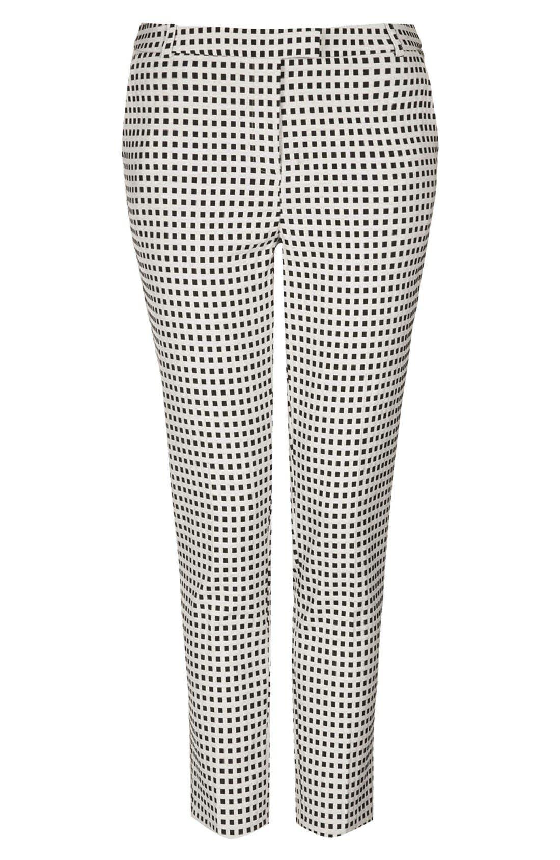 Alternate Image 3  - Topshop Gingham Cigarette Pants