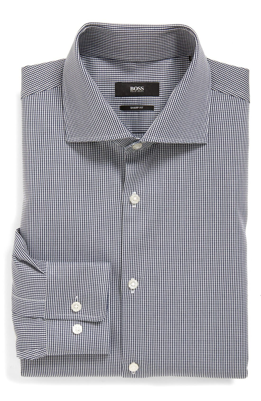 Alternate Image 1 Selected - BOSS 'Miles' Sharp Fit Check Dress Shirt