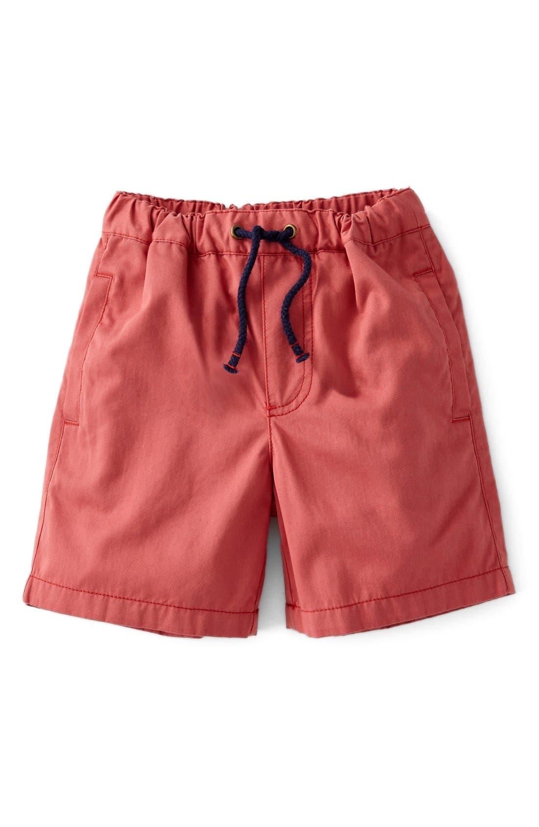 Alternate Image 1 Selected - Mini Boden Drawstring Shorts (Toddler Boys, Little Boys & Big Boys)