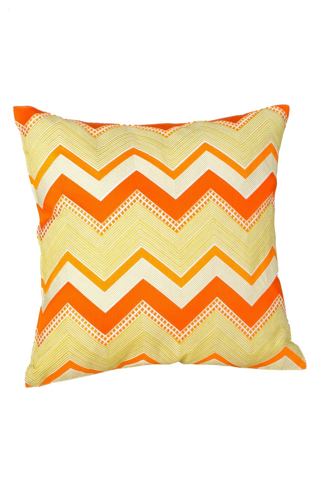Alternate Image 1 Selected - Trina Turk 'Zebra Stripe - Citrus Chevron' Pillow