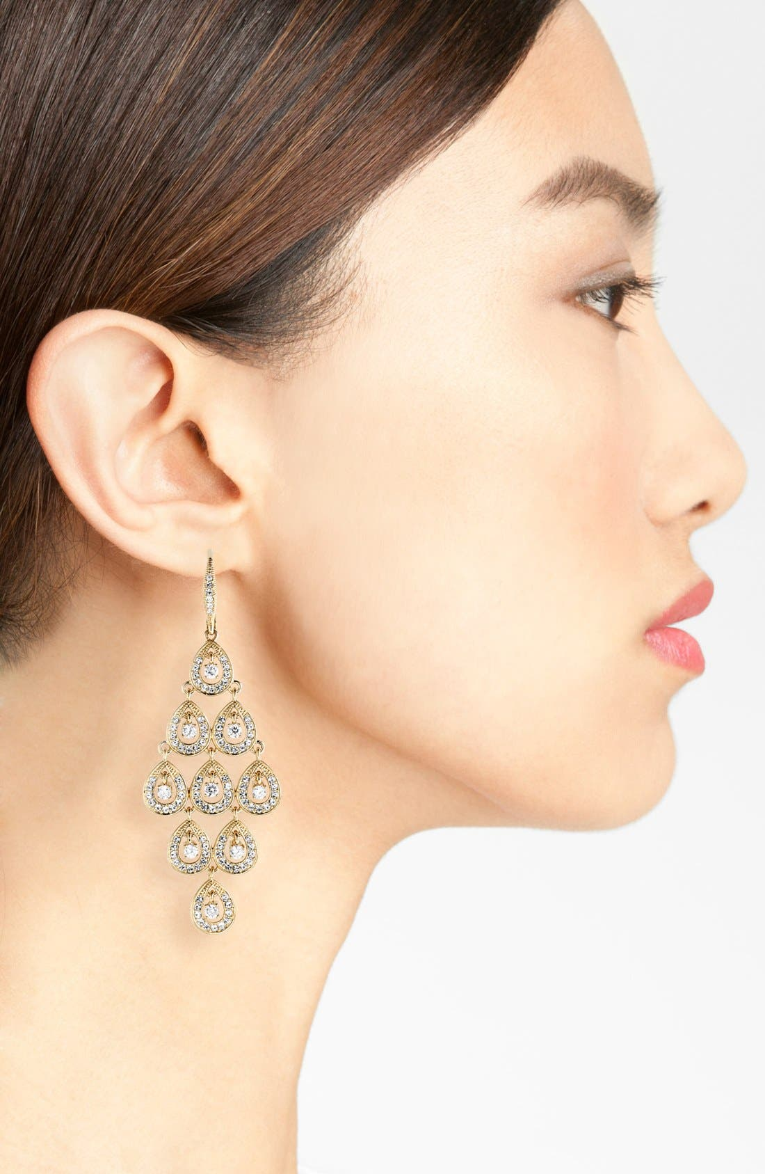 Alternate Image 2  - Nadri Chandelier Earrings