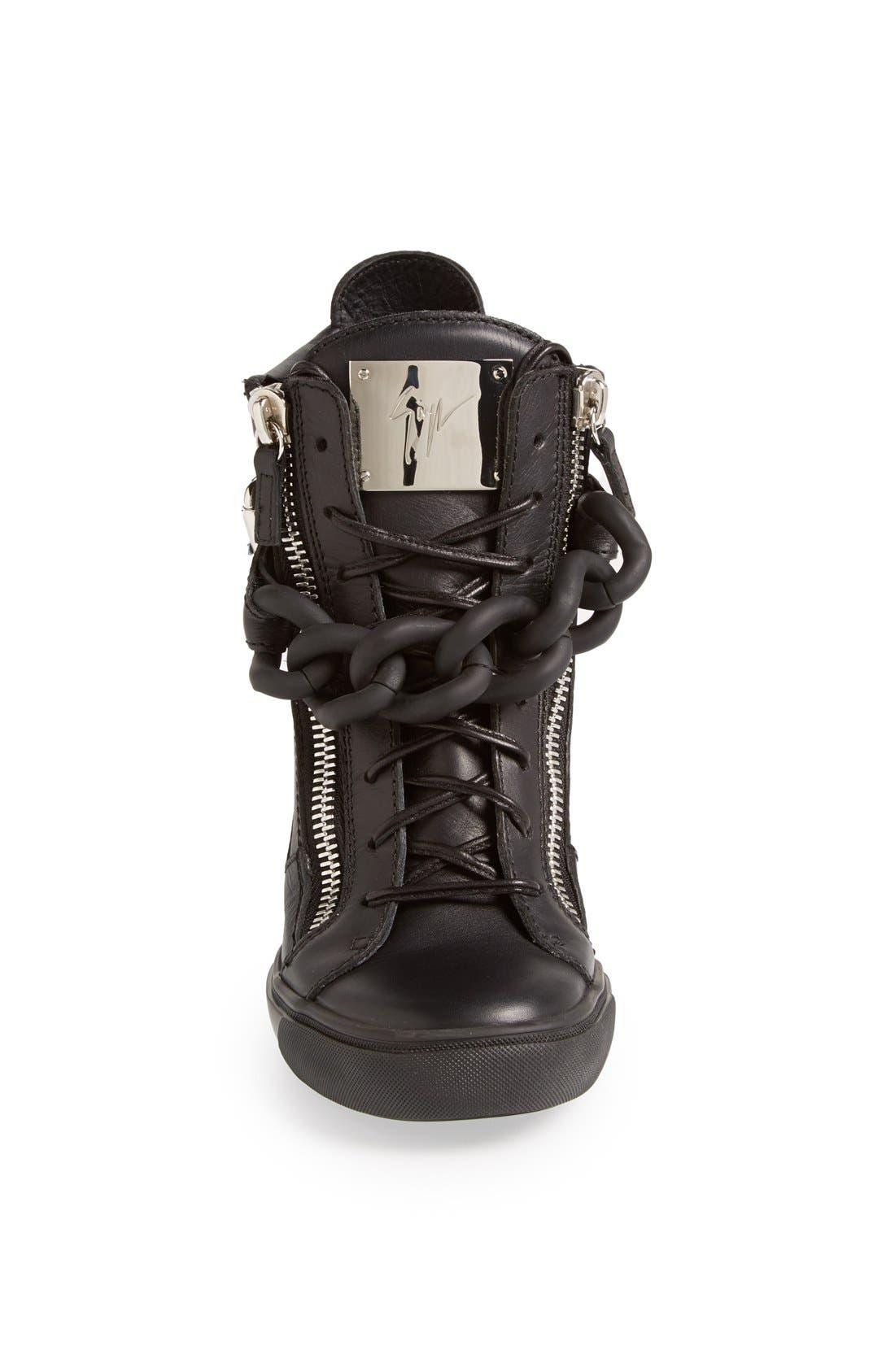 Alternate Image 3  - Giuseppe Zanotti High Top Wedge Sneaker