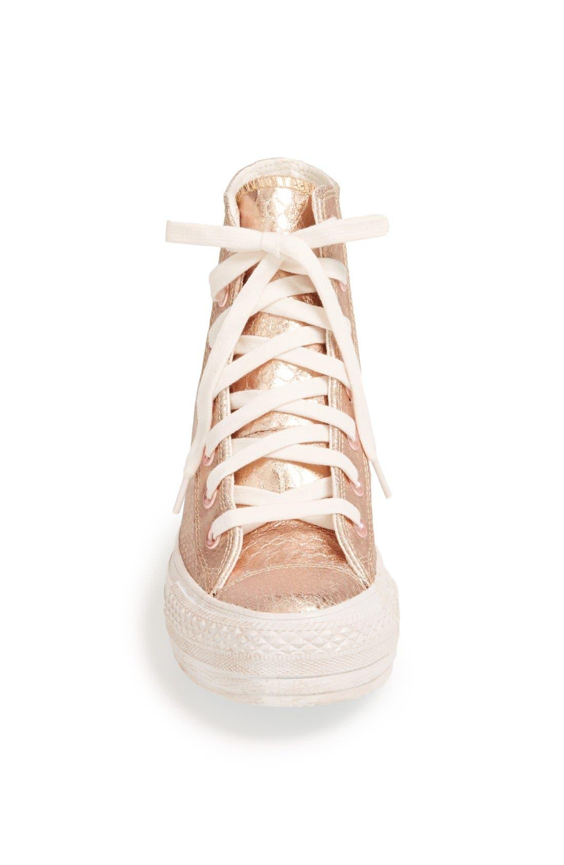 Alternate Image 3  - Chuck Taylor® All Star® 'Platform Plus' Hidden Wedge Leather High-Top Sneaker (Women)