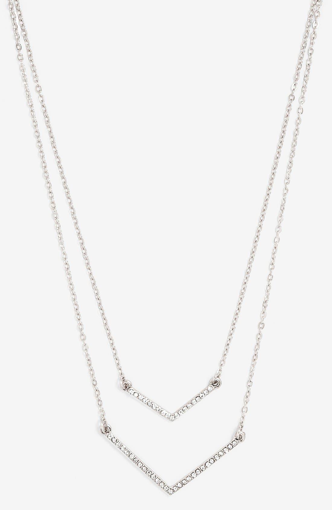 Alternate Image 1 Selected - BaubleBar Multistrand Pendant Necklace (Online Only)