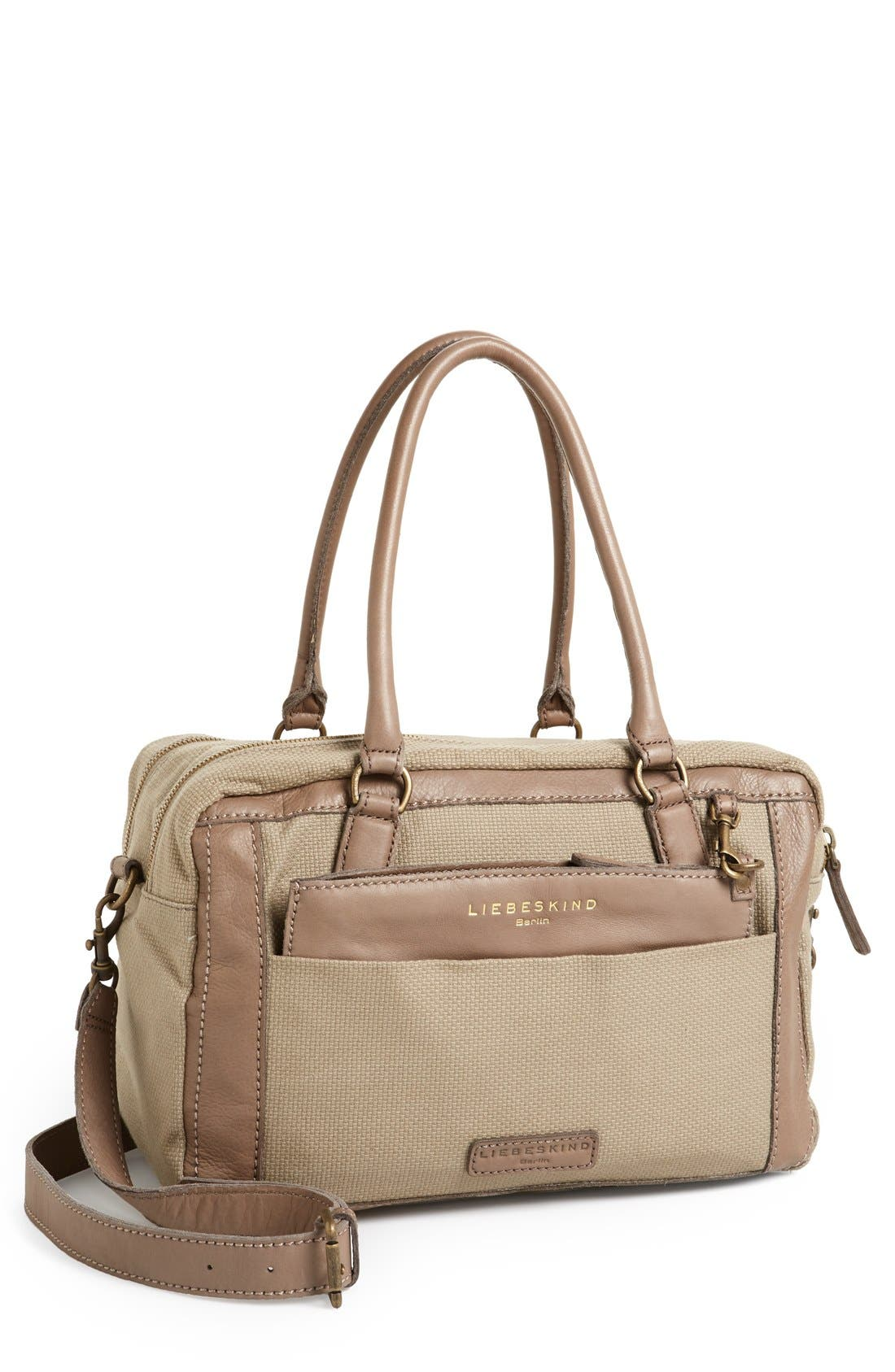 Main Image - Liebeskind 'Toska' Canvas & Leather Satchel