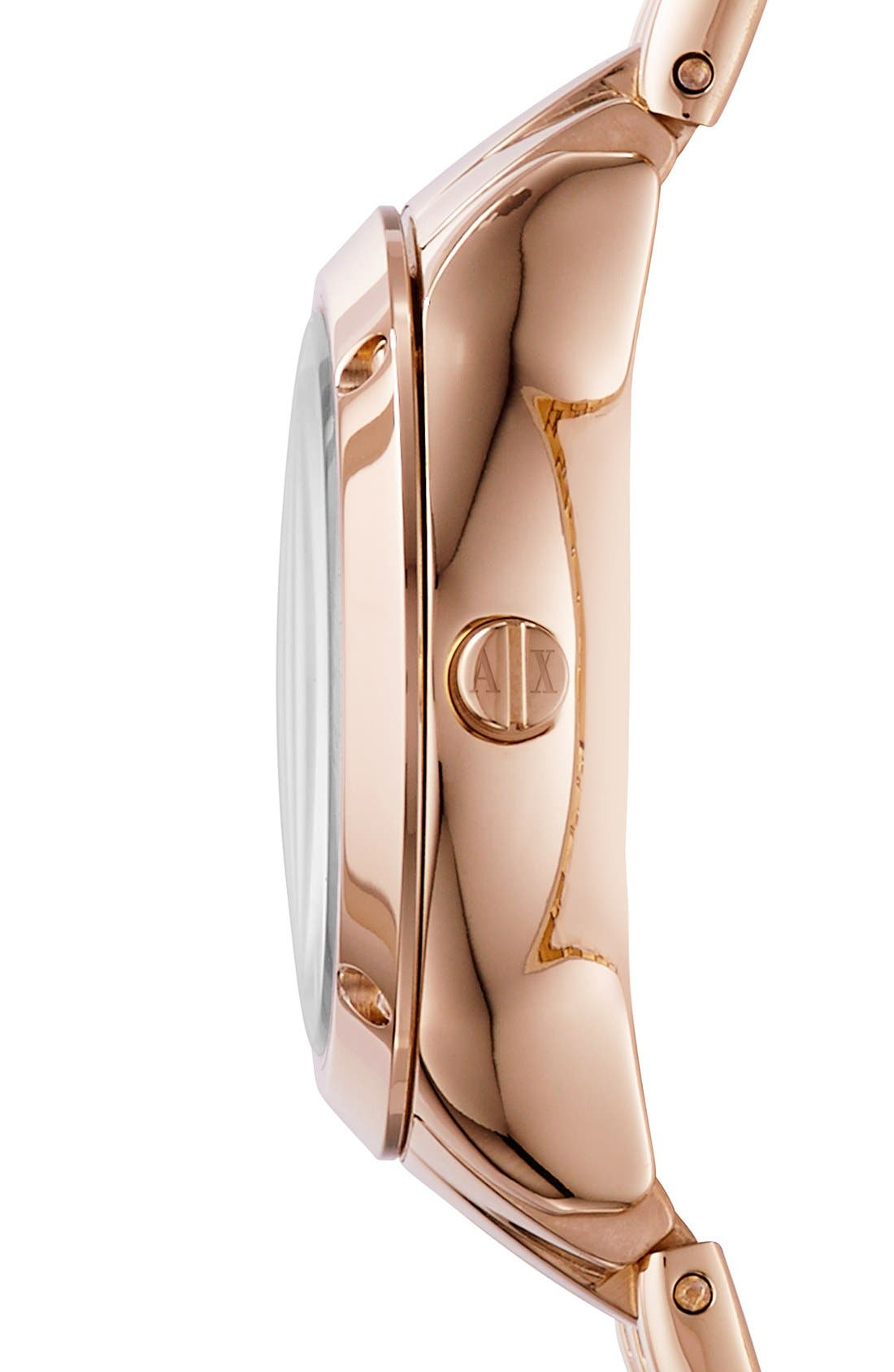 Alternate Image 3  - AX Armani Exchange Pavé Dial Bracelet Watch, 30mm