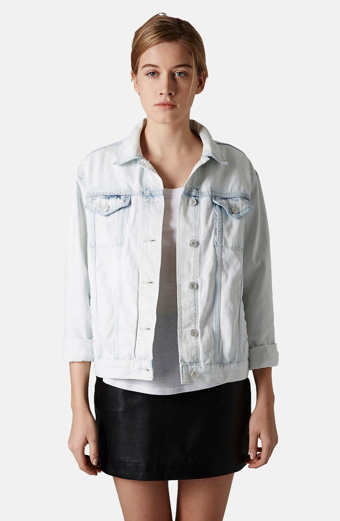 Main Image - Topshop Moto Denim Jacket