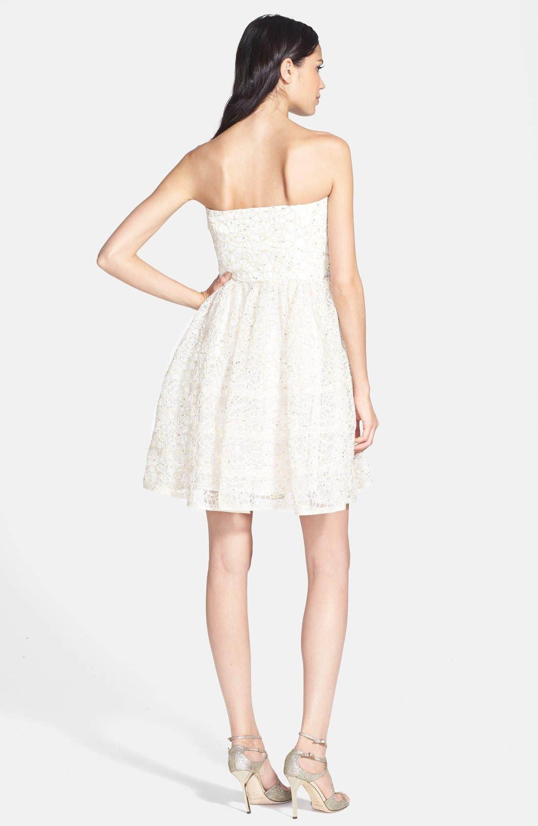 Alternate Image 2  - Betsey Johnson Strapless Fit & Flare Dress