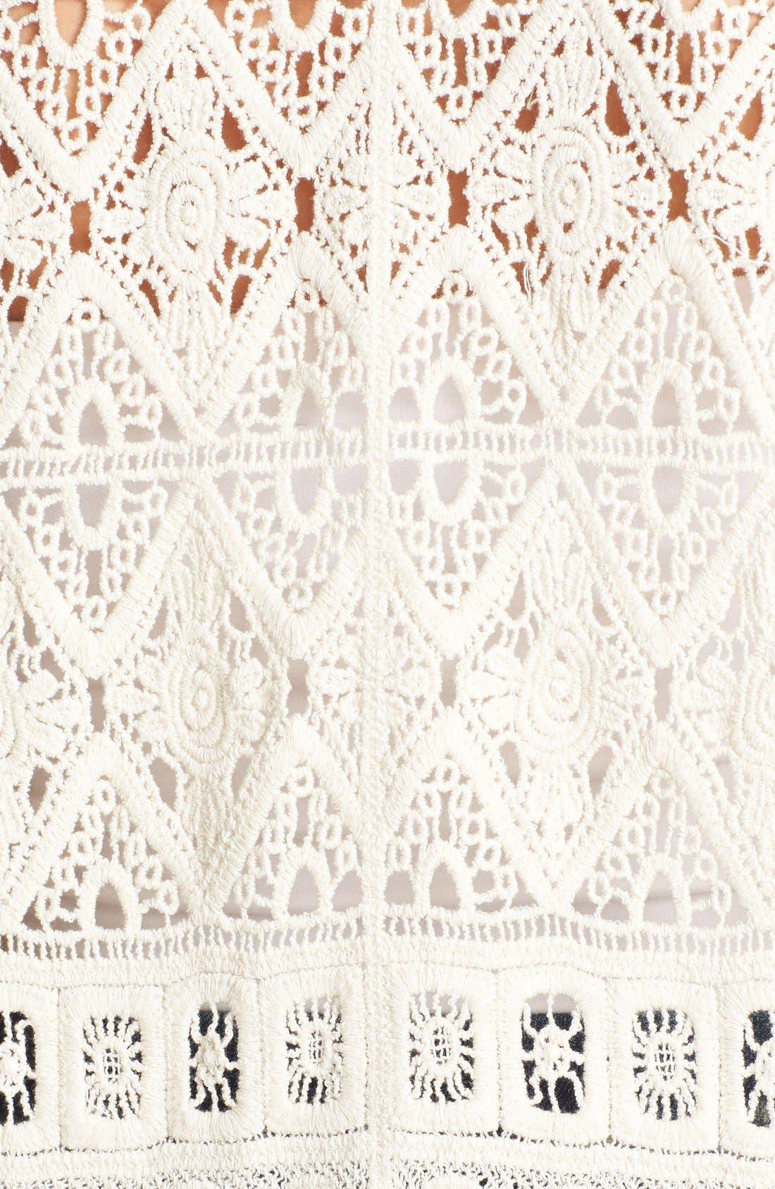 Alternate Image 3  - Raga Crochet Short Sleeve Poncho