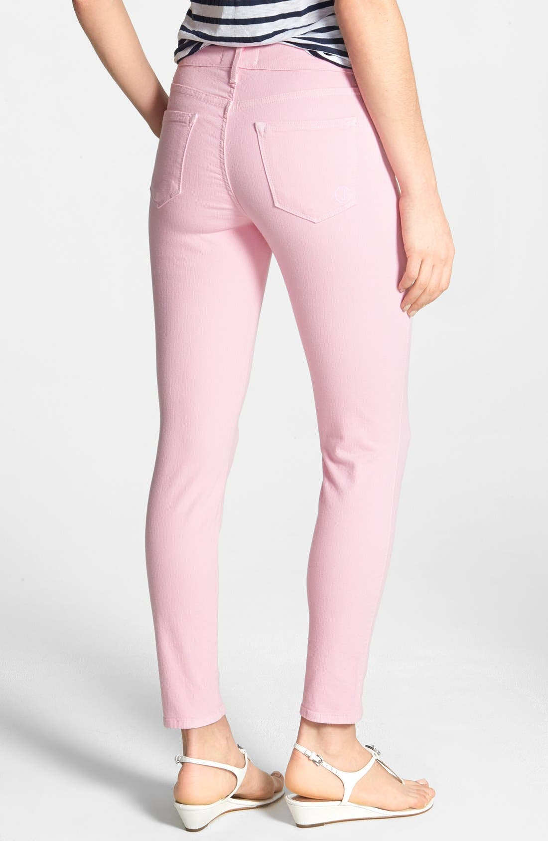 Alternate Image 2  - CJ by Cookie Johnson 'Wisdom' Colored Ankle Skinny Jeans (Pink)