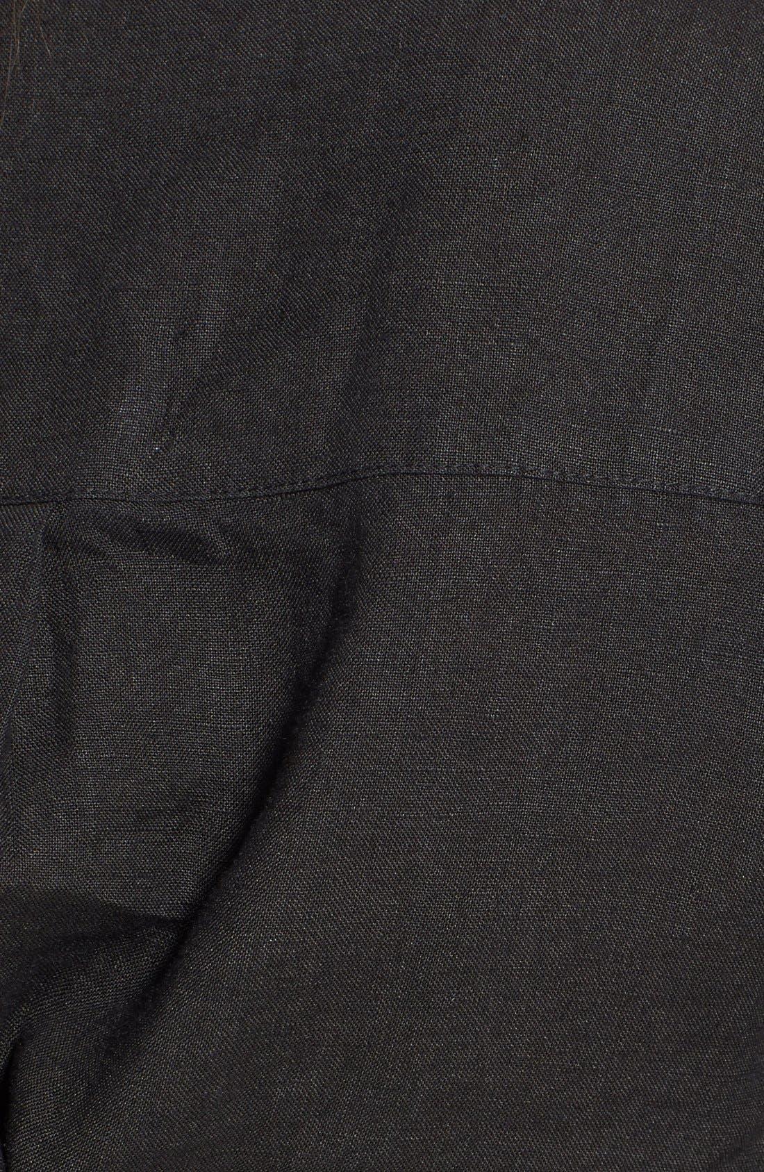 Alternate Image 3  - Allen Allen Linen Shirtdress