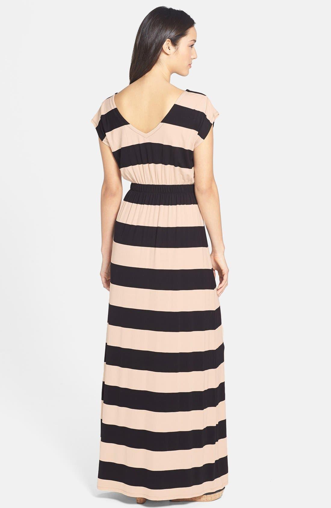Alternate Image 2  - Felicity & Coco Blouson Stripe Maxi Dress (Nordstrom Exclusive)