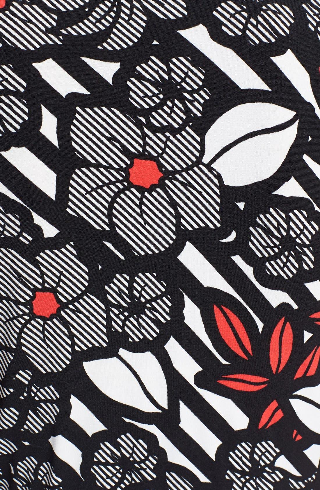 Alternate Image 3  - Anne Klein Print Cap Sleeve Wrap Dress