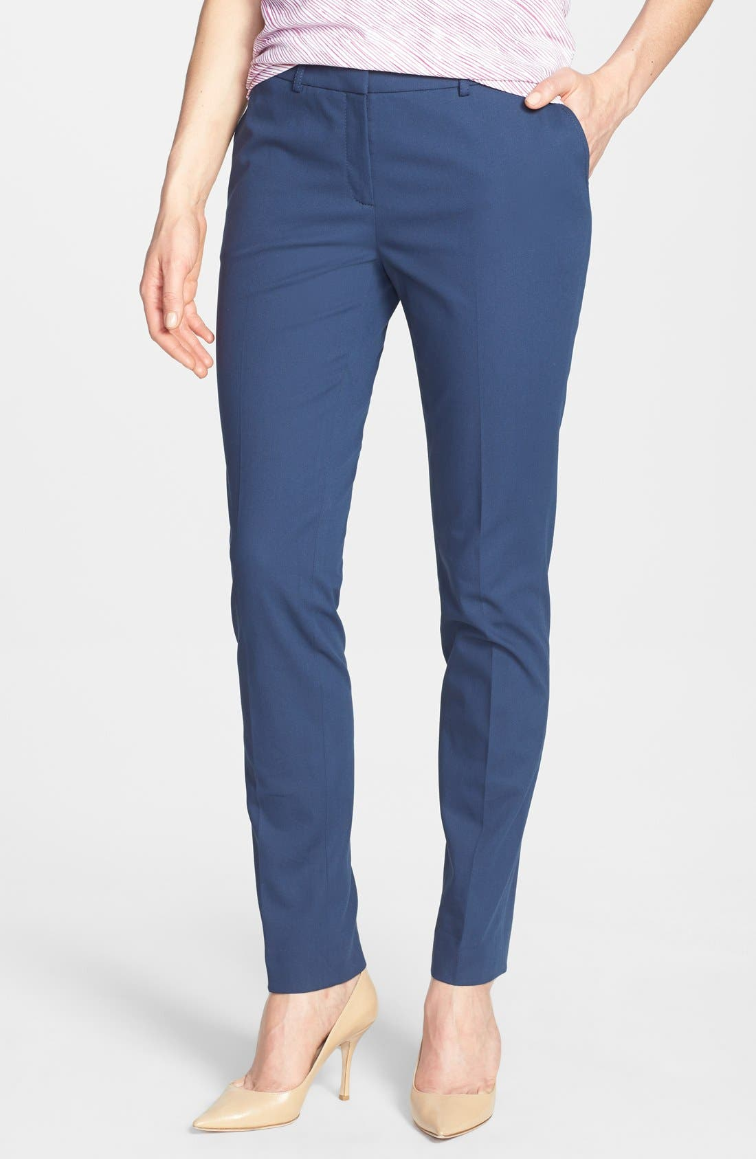 Main Image - Lafayette 148 New York Polished Twill Skinny Ankle Pant