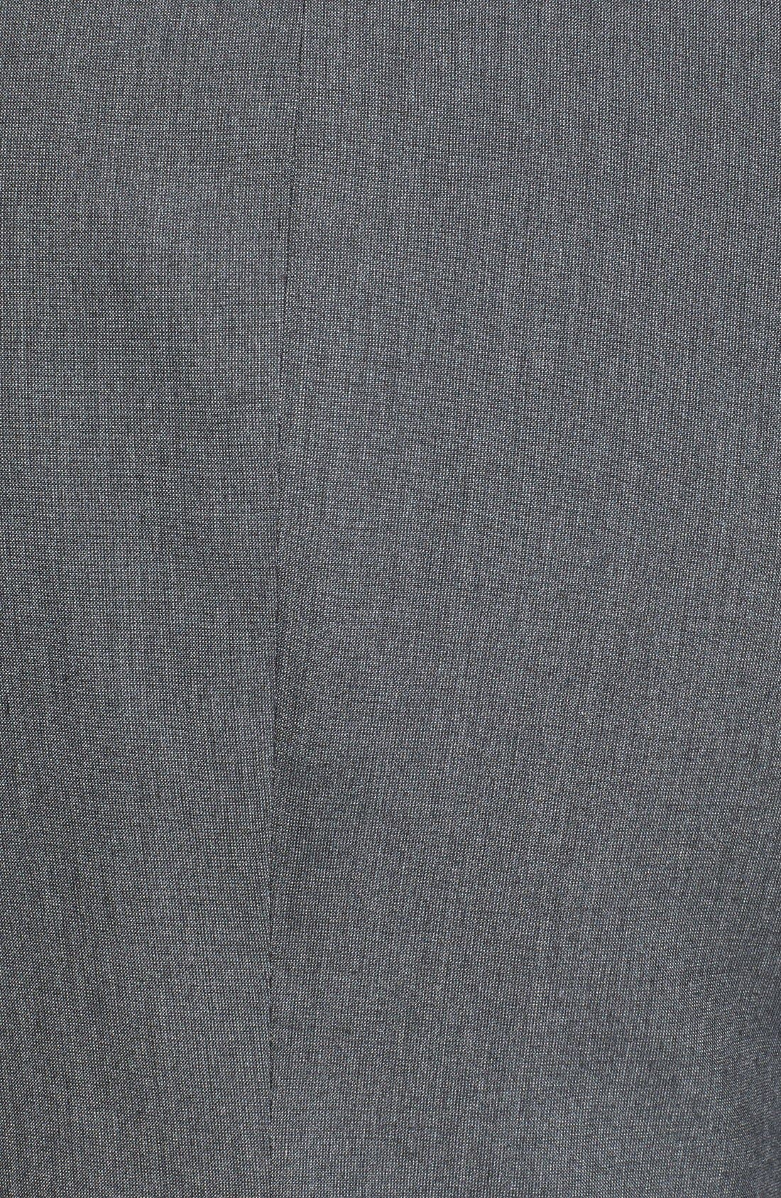 Alternate Image 3  - Topman Skinny Fit Satin Trim Grey Suit Jacket
