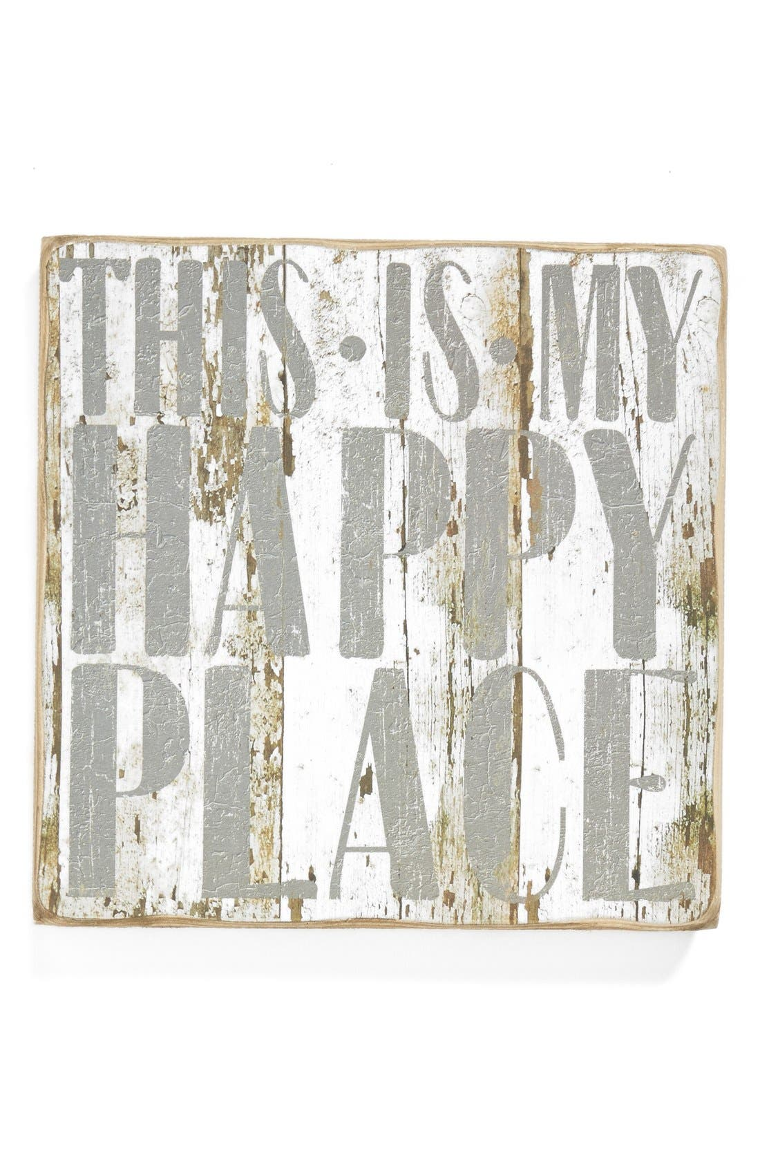 Main Image - Primitives by Kathy 'Happy Place/Leave Me Alone' Reversible Box Sign (Nordstrom Exclusive)