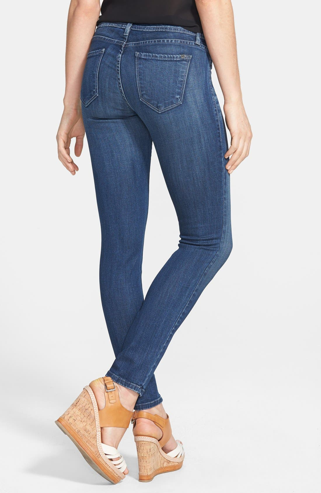 Alternate Image 2  - SP Black Low Rise Skinny Jeans (Medium) (Juniors)
