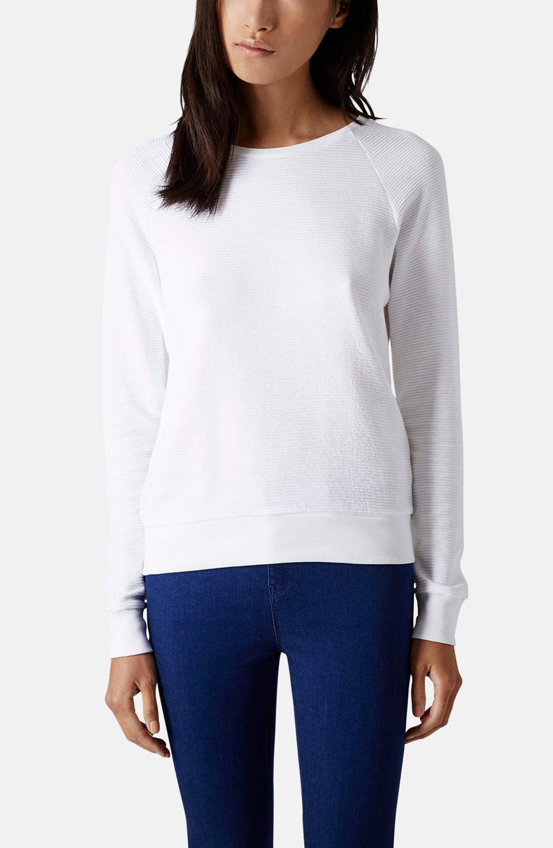 Alternate Image 1 Selected - Topshop Rib Knit Pullover